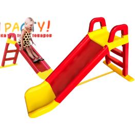 """Горка детская пластиковая """"Веселый спуск"""" (Doloni) красно-желтая"""