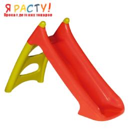 Детская горка пластиковая (Smoby) красная