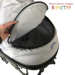 Коляска для новорождённых Living Smart (Chicco) серая