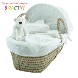Соломенная плетеная люлька-кроватка