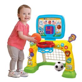 Баскетбольная стойка и детские футбольные ворота  2 в 1 (VTech)