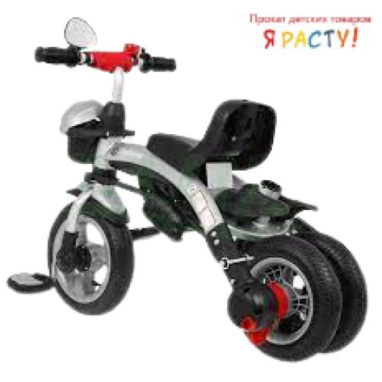 Детский трехколесный велосипед с ручкой Sport Trike Explorer зеленый